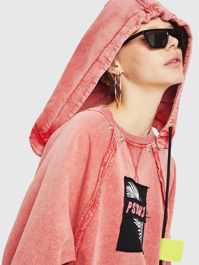 Diesel - F-CAROL, Light Red - Sweatshirts - Image 3