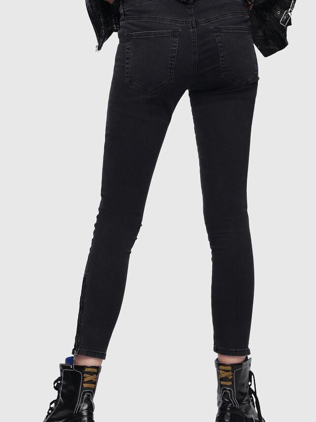 Diesel - Slandy Zip 0680I, Black/Dark Grey - Jeans - Image 2