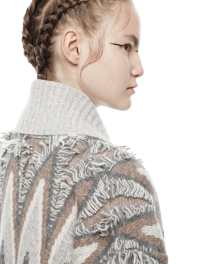 Diesel - MYLOR-LONG, Light Grey - Sweaters - Image 6
