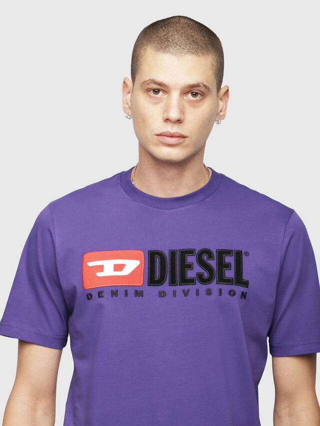 Diesel - T-JUST-DIVISION, Violet - T-Shirts - Image 3