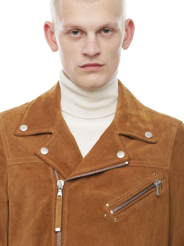 Diesel - LASKAI, Brown/Beige - Leather jackets - Image 4