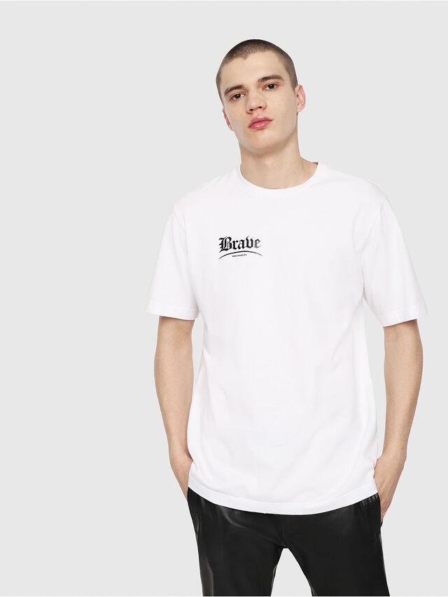 Diesel - T-JUST-Y14, White/Black - T-Shirts - Image 1