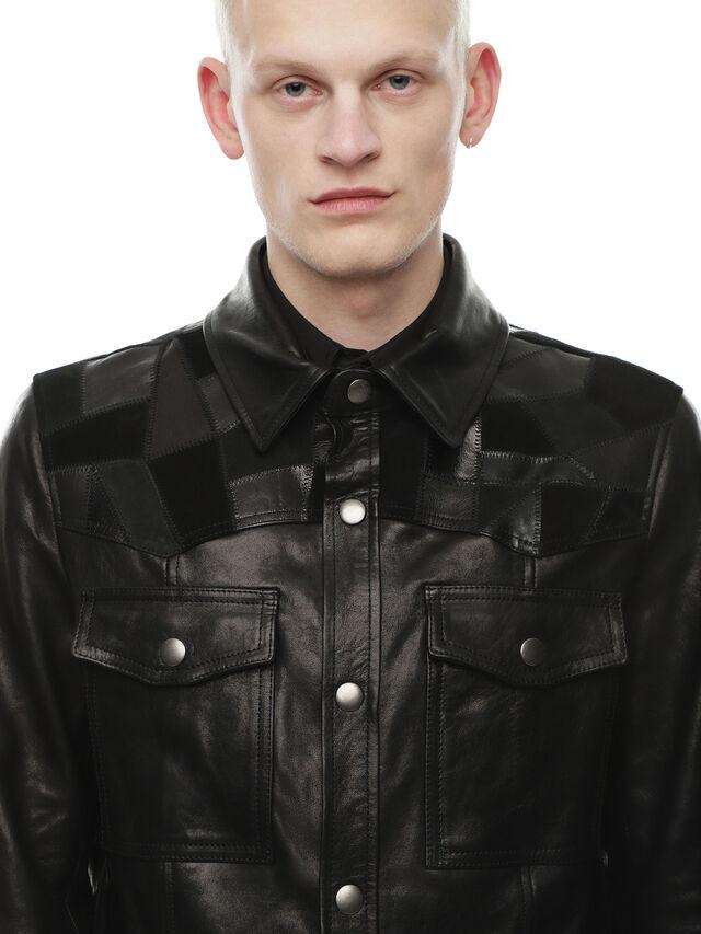 Diesel - LASTREET, Black - Leather jackets - Image 4
