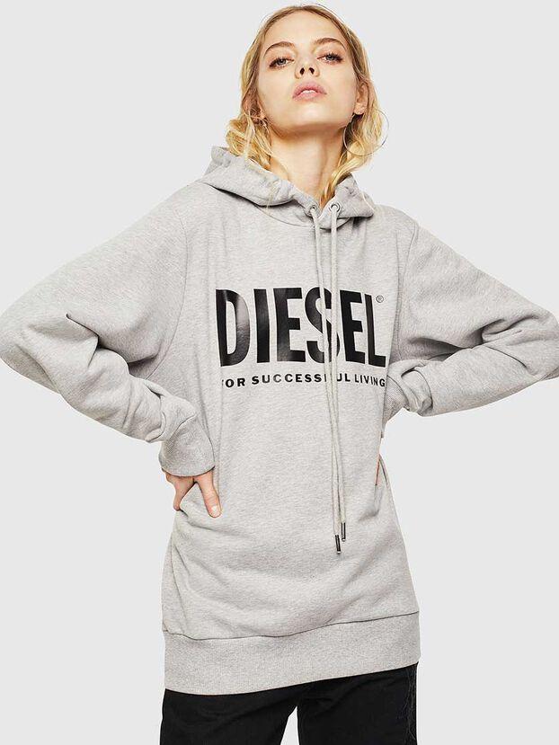 S-GIR-HOOD-DIVISION-, Grey - Sweatshirts