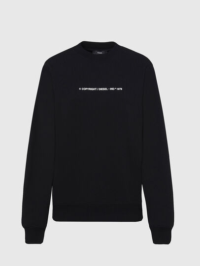 Diesel - F-ANG-COPY, Noir - Pull Cotton - Image 1