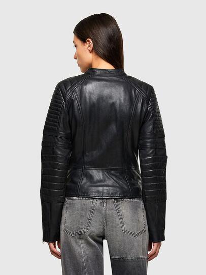 Diesel - L-IGE-NEW-A, Noir - Vestes de cuir - Image 2