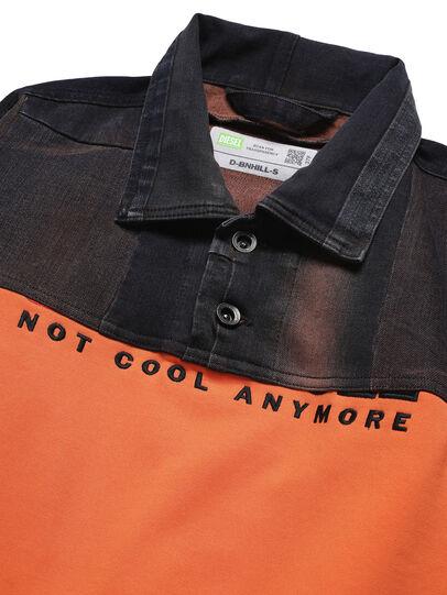Diesel - D-BNHILL-S, Orange - Sweatshirts - Image 3