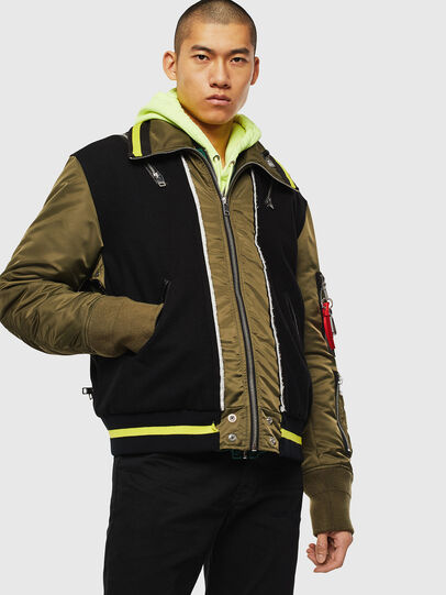 Diesel - W-SHARYN, Black/Green - Winter Jackets - Image 1