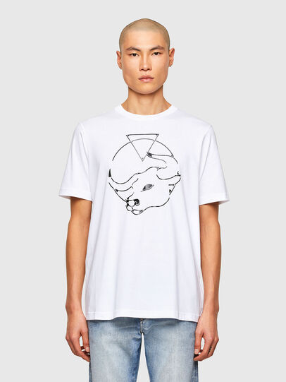 Diesel - CL-T-JUST-O, Blanc - T-Shirts - Image 1