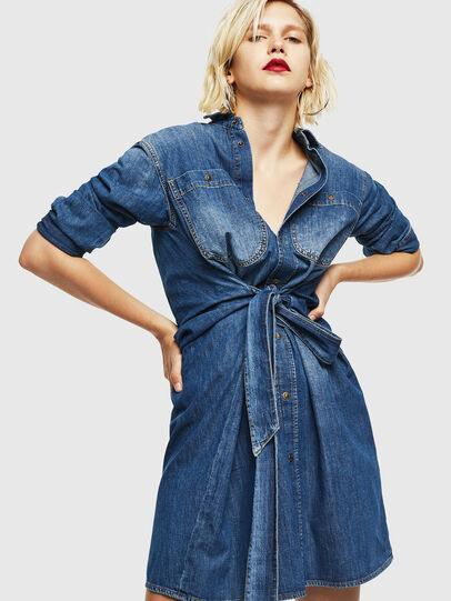 Diesel - DE-BLEU, Bleu moyen - Robes - Image 4