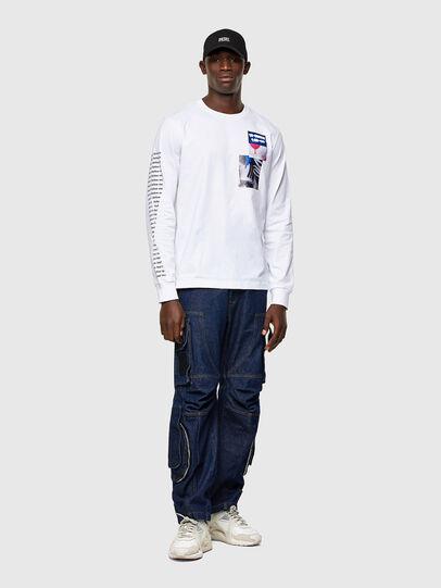 Diesel - T-JUST-LS-A10, Blanc - T-Shirts - Image 4