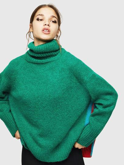 Diesel - M-PERSIA, Green/Red - Sweaters - Image 1
