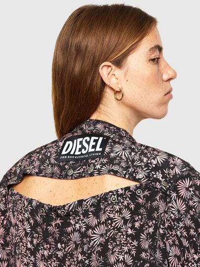 Diesel - D-SUPER-H-LONG, Noir/Violet - Robes - Image 3