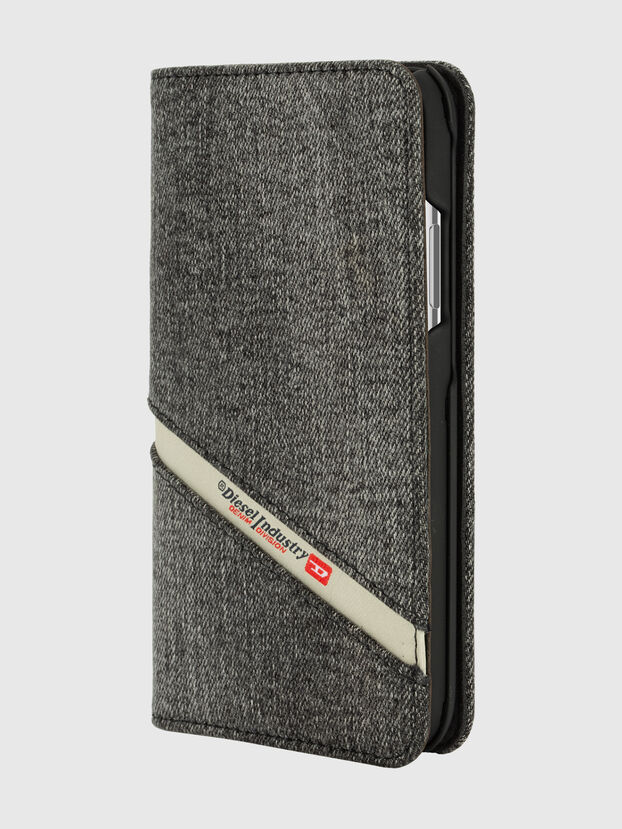 DIESEL 2-IN-1 FOLIO CASE FOR IPHONE XS & IPHONE X, Gris - Coques à rabat