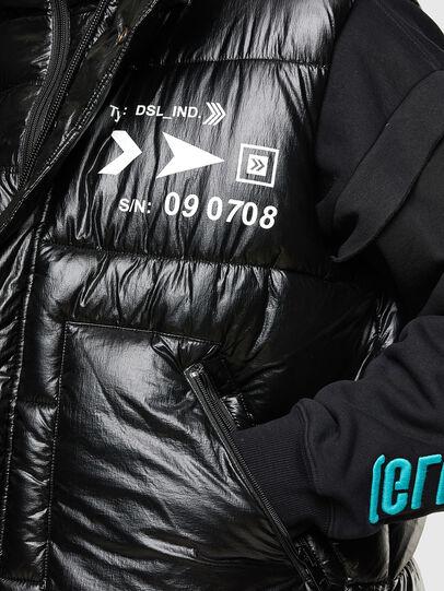 Diesel - W-SELLERS, Noir - Vestes d'hiver - Image 5