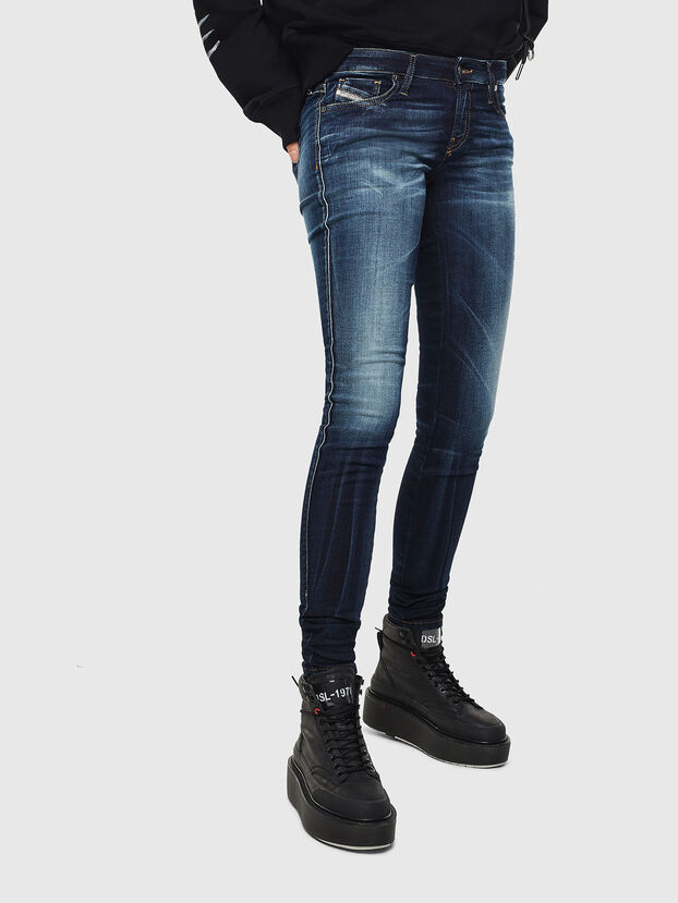 Gracey JoggJeans 069JX, Bleu Foncé - Jeans