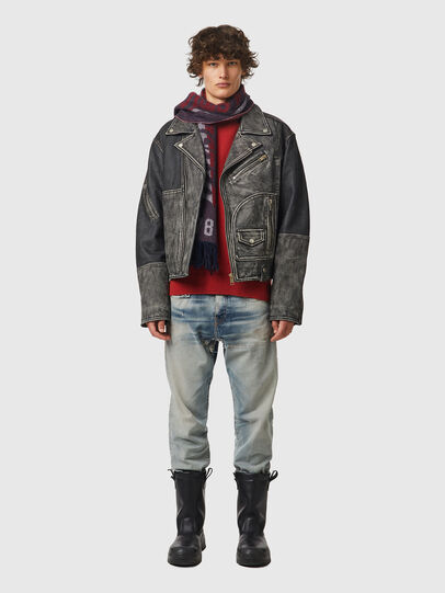 Diesel - L-CONWAY, Black - Leather jackets - Image 4