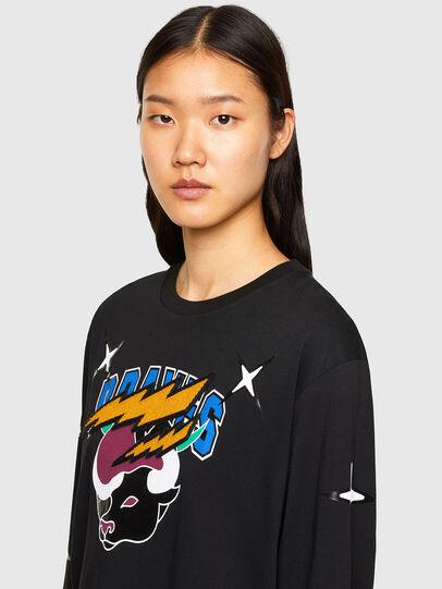 Diesel - CL-T-JUST-LS-O, Noir - T-Shirts - Image 6