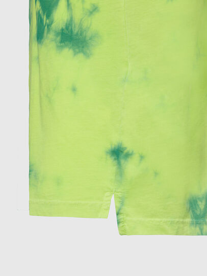 Diesel - T-JUST-SLITS-X86, Green/Yellow - T-Shirts - Image 4