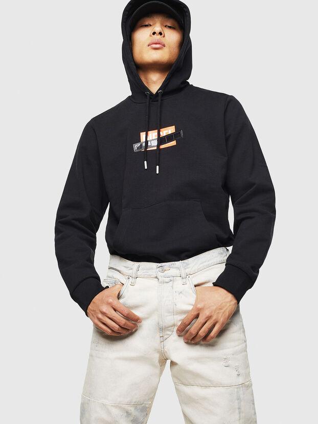 S-GIRK-HOOD-S1, Black - Sweatshirts
