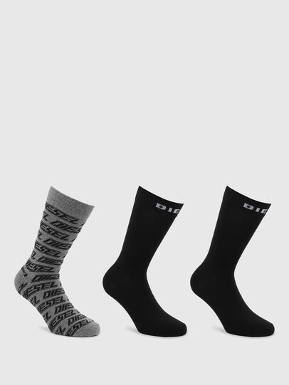 Diesel - SKM-RAY-THREEPACK, Noir/Gris - Chaussettes - Image 1