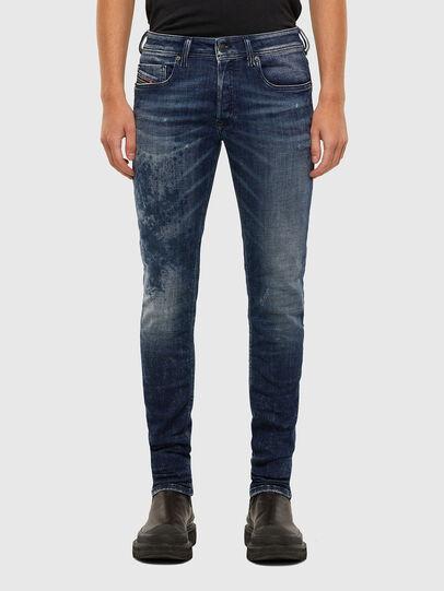Diesel - Sleenker 009JM, Bleu Foncé - Jeans - Image 1