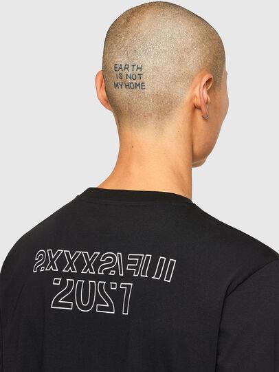 Diesel - CL-T-JUST-LS-O, Noir - T-Shirts - Image 5