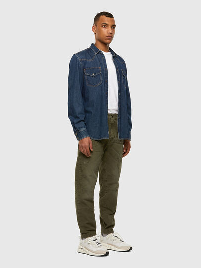 Diesel - D-Azzer JoggJeans 069NF, Military Green - Jeans - Image 7