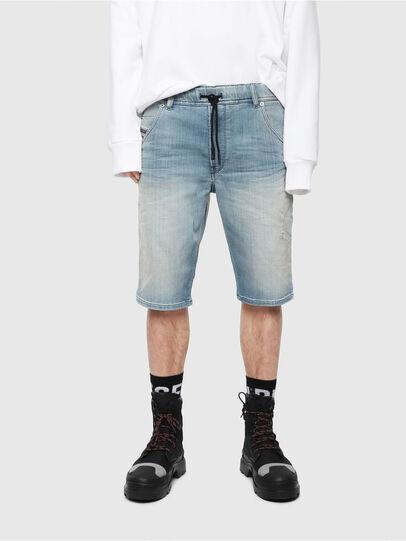 Diesel - D-KROOSHORT-T, Bleu Clair - Shorts - Image 1