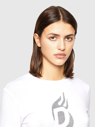 Diesel - T-SILY-R1, Blanc - T-Shirts - Image 3