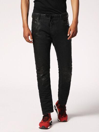 Diesel - Krooley JoggJeans 084JB, Noir/Gris foncé - Jeans - Image 1