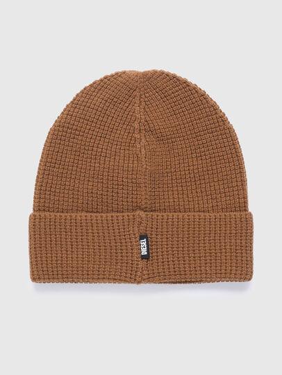 Diesel - K-ABILENE, Light Brown - Knit caps - Image 1