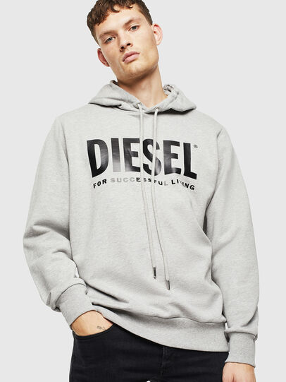 Diesel - S-GIR-HOOD-DIVISION-, Gris - Pull Cotton - Image 1
