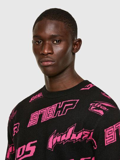 Diesel - K-NICKEL, Black/Pink - Sweaters - Image 4