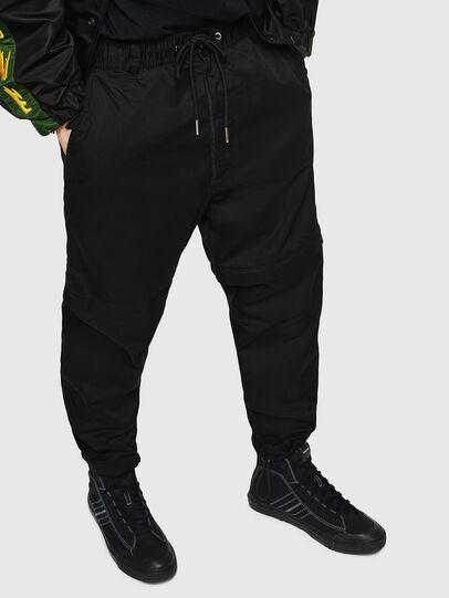 Diesel - P-CASHORT, Noir - Pantalons - Image 1