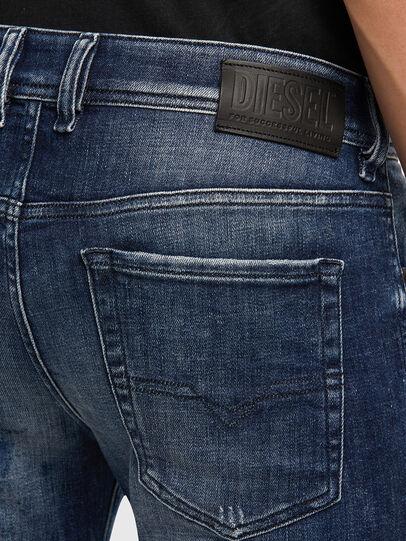 Diesel - Sleenker 009JM, Bleu Foncé - Jeans - Image 5