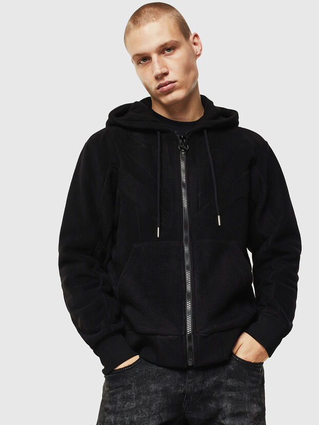 S-NOREEN-ZIP, Black - Sweatshirts