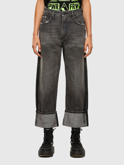 Diesel - D-Reggy 009IL, Noir/Gris foncé - Jeans - Image 1