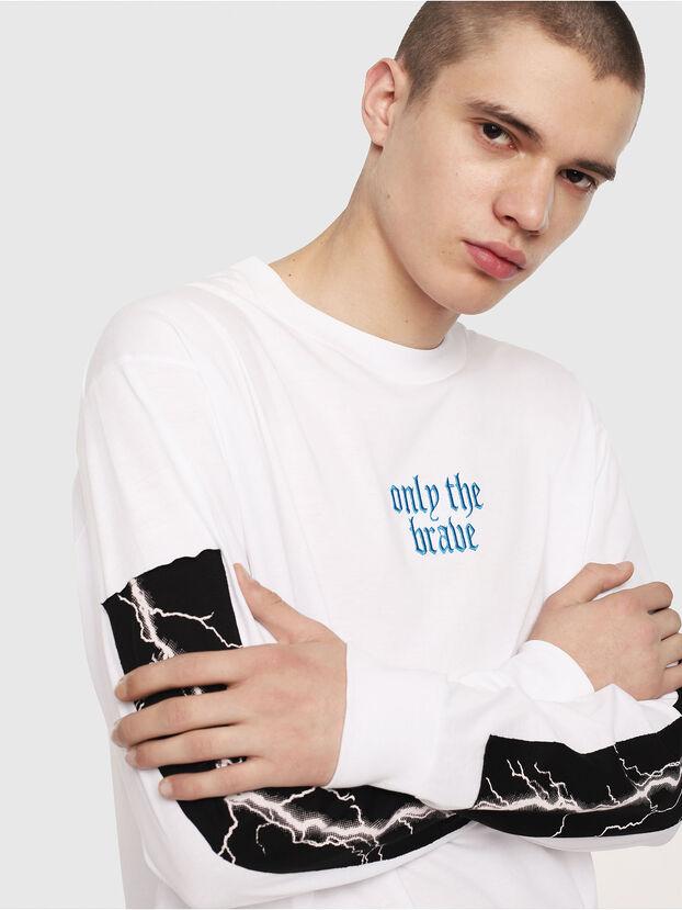 T-LUCAS-LS-Y2, Blanc - T-Shirts