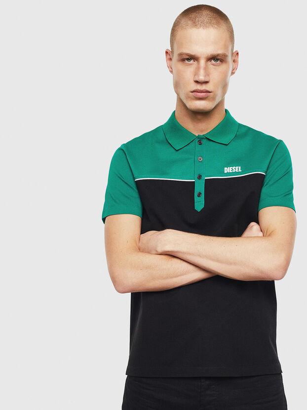 T-RALFY-BIC, Green/Black - Polos