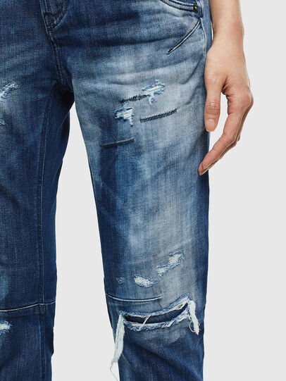 Diesel - Fayza JoggJeans 0099S, Bleu Foncé - Jeans - Image 4