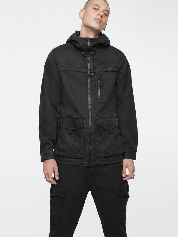 JOQUE JOGGJEANS, Black/Dark Grey - Denim Jackets