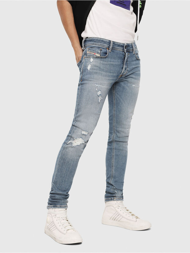 Sleenker 086AT, Bleu Clair - Jeans