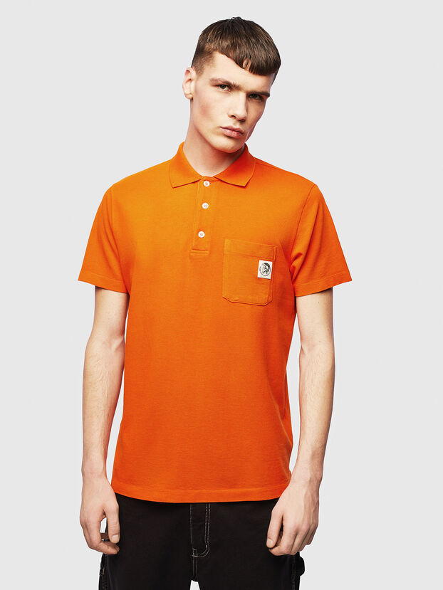 T-POLO-WORKY, Orange - Polos