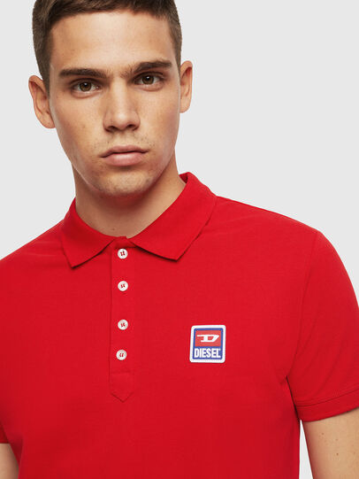 Diesel - T-KAL-PATCH, Red - Polos - Image 3