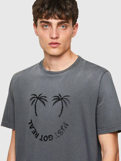 Diesel - T-JUST-B64, Gris - T-Shirts - Image 3