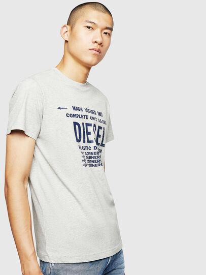 Diesel - T-DIEGO-B6, Gris Clair - T-Shirts - Image 1
