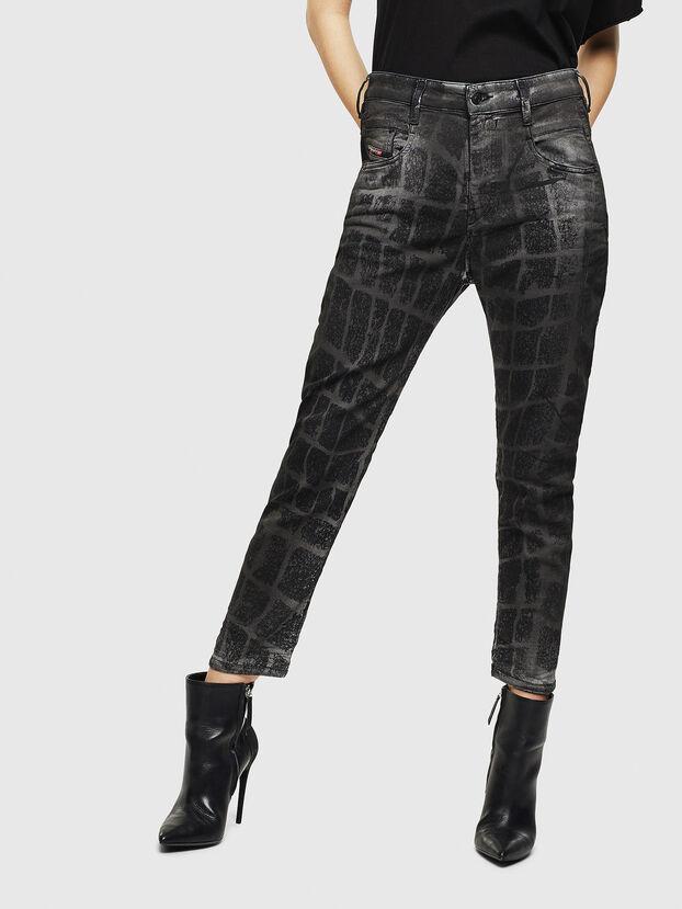 Fayza JoggJeans 0094M, Noir/Gris foncé - Jeans