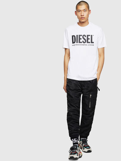 Diesel - T-JUST-LOGO, Blanc - T-Shirts - Image 4