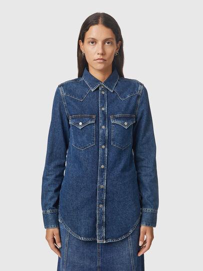 Diesel - DE-RINGY, Bleu Foncé - Chemises en Denim - Image 1